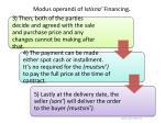modus operandi of istisna financing1