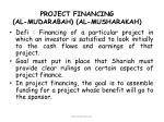 project financing al mudarabah al musharakah