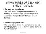 structures of islamic credit cards