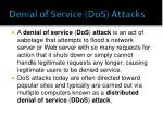 denial of service dos attacks