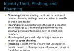 identity theft phishing and pharming1