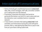 interception of communications