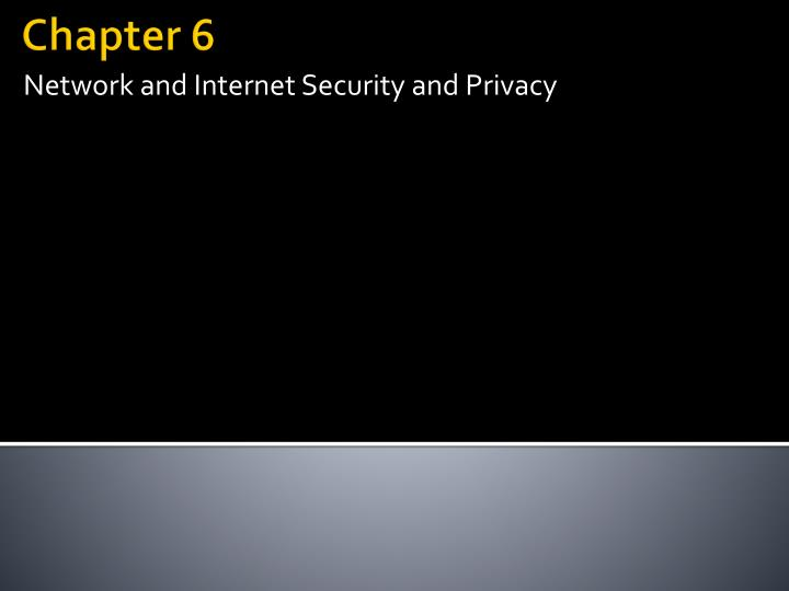 network and internet security and privacy n.