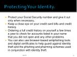 protecting your identity1