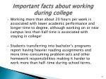 important facts about working during college