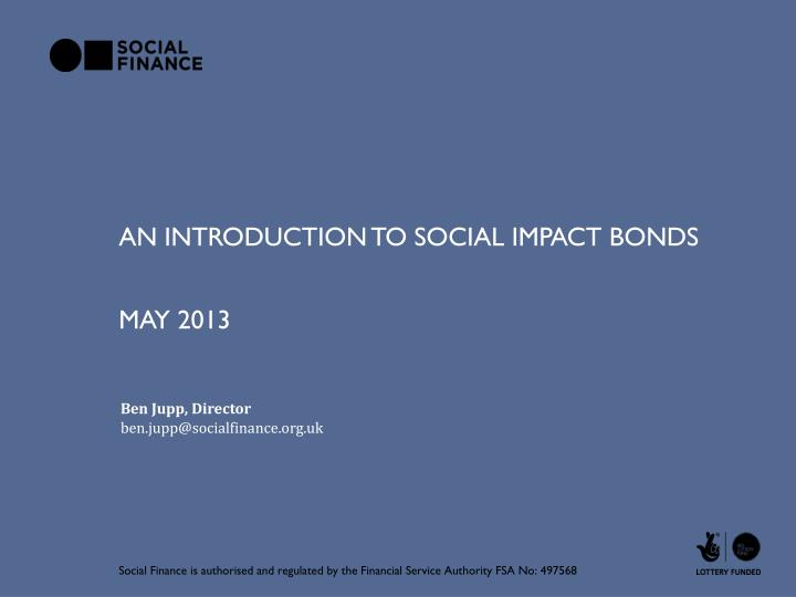 an introduction to social impact bonds n.