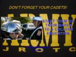 don t forget your cadets
