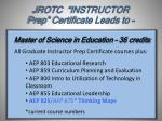 jrotc instructor prep certificate leads to