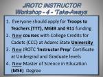 jrotc instructor workshop 4 take aways