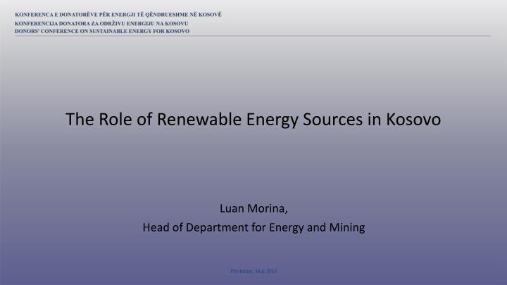 luan morina head of department for energy and mining n.