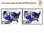 a current map of state ee re policies
