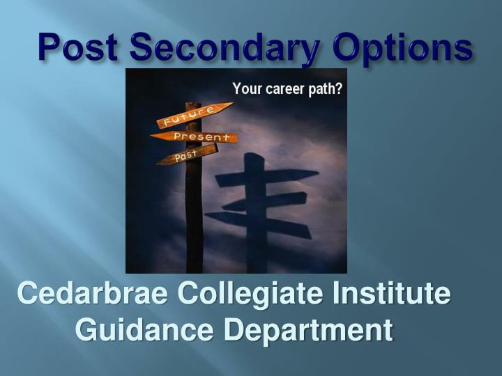 post secondary options n.