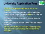 university application fees