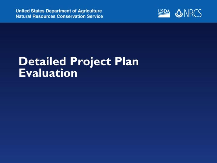 detailed project plan evaluation n.