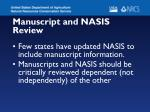 manuscript and nasis review