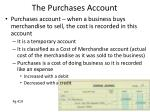 the purchases account