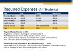 required expenses all students