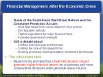 financial management after the economic crisis
