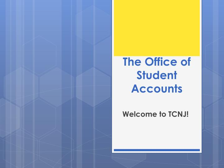 the office of student accounts n.