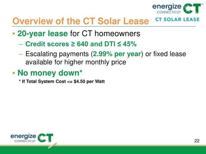 Overview of the CT Solar