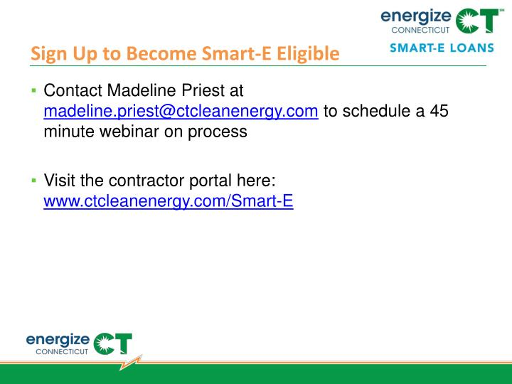 Sign Up to Become Smart-E Eligible