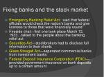 fixing banks and the stock market