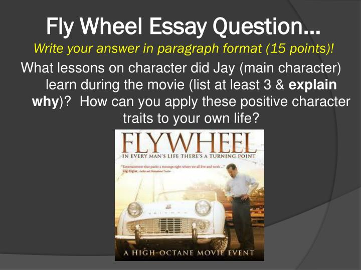 fly wheel essay question write your answer in paragraph format 15 points n.