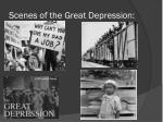 scenes of the great depression