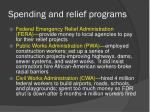 spending and relief programs1
