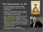 the depression in art