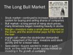 the long bull market