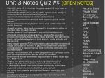 unit 3 notes quiz 4 open notes
