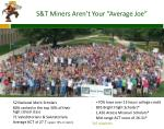s t miners aren t your average joe