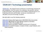 csun 2011 technology presentation