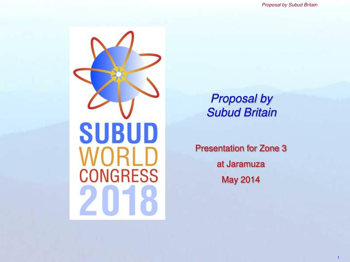 proposal by subud britain n.