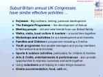 subud britain annual uk congresses have similar effective activities