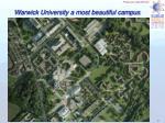 warwick university a most beautiful campus