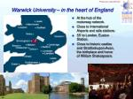 warwick university in the heart of england