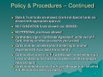 policy procedures continued