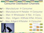 consumer distribution channels