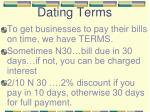 dating terms