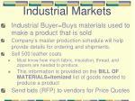 industrial markets