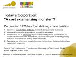 today s corporation a cost externalizing monster