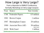 how large is very large from a keynote to emnlp conference formally workshop on very large corpora