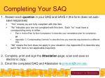 completing your saq
