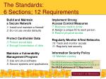 the standards 6 sections 12 requirements