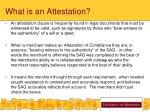 what is an attestation