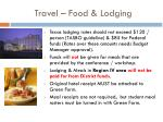 travel food lodging