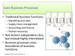 core business processes