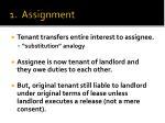1 assignment